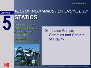 Distributed Forces:  Centroids and Centers  of Gravity