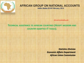Technical assistance to  african  countries (A dopt  modern  and country ‐ adapted IT  tools).