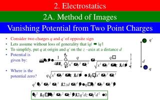 2. Electrostatics