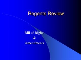 Regents Review