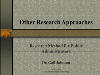 Other Research Approaches