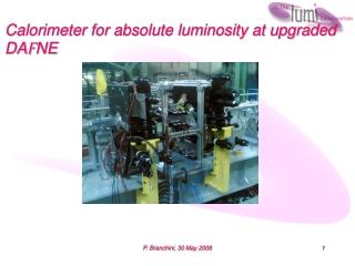 Calorimeter for absolute luminosity at upgraded DA F NE