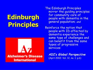 Edinburgh Principles