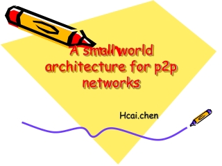 A small world architecture for p2p networks