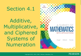 Section 4.1 Additive, Multiplicative, and Ciphered Systems of Numeration