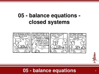 05 - balance equations