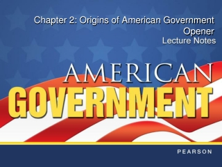 Chapter 2: Origins of American Government  Opener