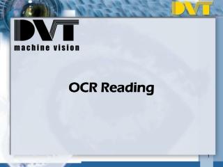 OCR Reading