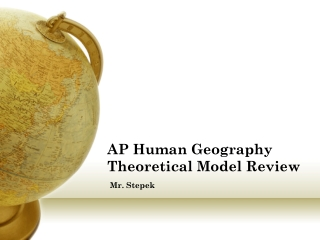 AP Human Geography Theoretical Model Review