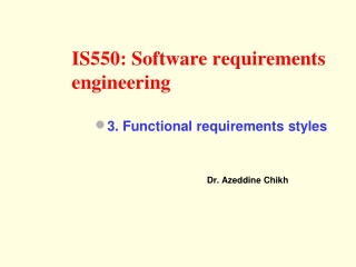 IS550: Software requirements engineering