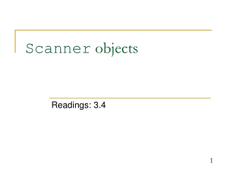 Scanner  objects