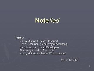 Note fied