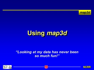Using  map3d