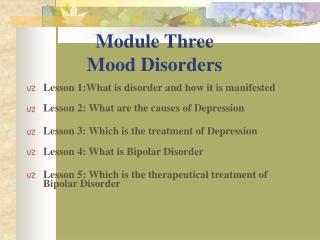 Module Three Mood Disorders