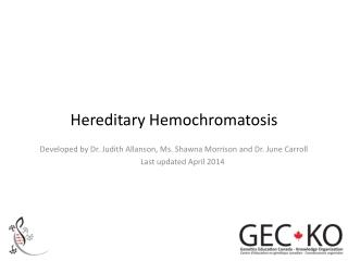 Hereditary Hemochromatosis