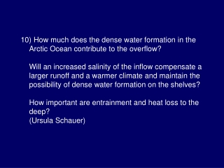 How much does the dense water formation in the Arctic Ocean contribute to the overflow?