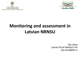 Monitoring and asses s ment in Latvian NRNSU