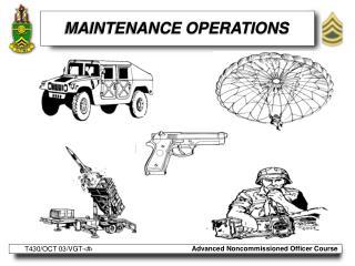 MAINTENANCE OPERATIONS