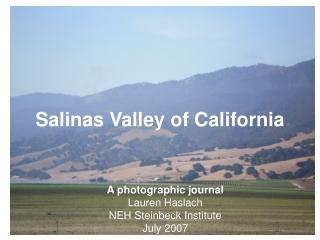 Salinas Valley of California