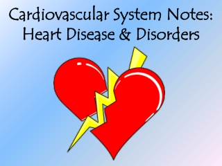 Cardiovascular System Notes: Heart Disease & Disorders