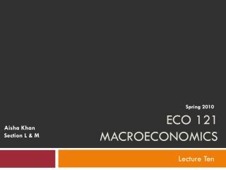 ECO 121 Macroeconomics