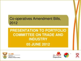 Co-operatives Amendment Bills, 2012