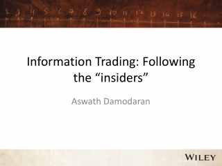 """Information Trading: Following the  """" insiders """""""