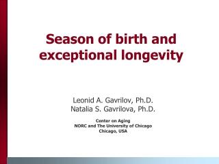 Season of birth and exceptional longevity