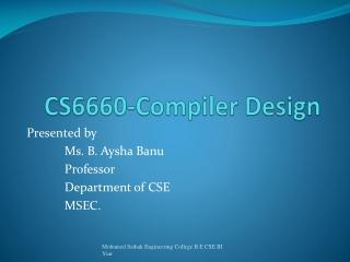 CS6660-Compiler  Design