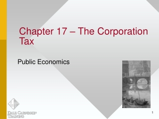 Chapter 17 – The Corporation Tax