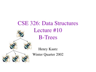 CSE 326: Data Structures Lecture #10 B-Trees