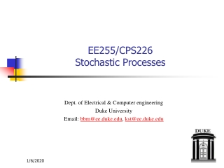 EE255/CPS226 Stochastic Processes