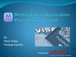 MedinyX Visa Application Processing  System