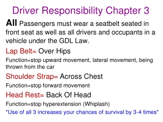 Driver Responsibility Chapter 3
