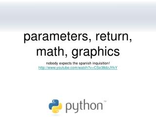 parameters, return, math, graphics