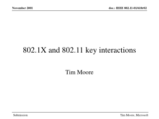 802.1X and 802.11 key interactions