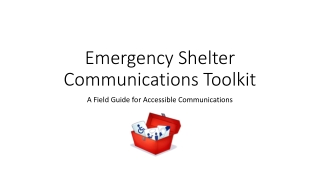 Emergency Shelter Communications Toolkit