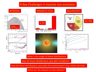 A few Challenges in massive star evolution