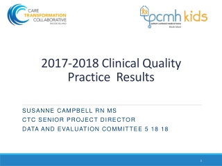 2017-2018 Clinical Quality  Practice  Results