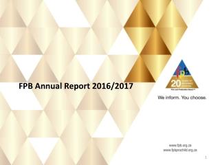 FPB Annual Report 2016/2017