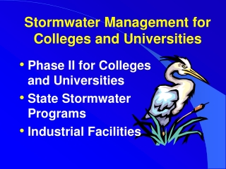 Stormwater Management for  Colleges and Universities