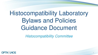Histocompatibility Laboratory Bylaws and Policies  Guidance Document