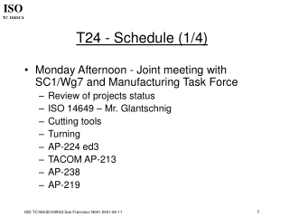 T24 - Schedule (1/4)