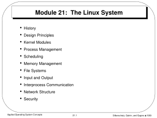 Module 21:  The Linux System