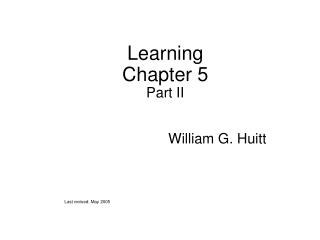 Learning Chapter 5 Part II