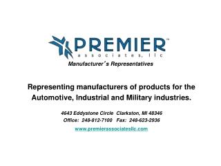 Manufacturer ' s Representatives