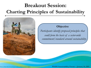 Breakout Session:  Charting Principles of Sustainability