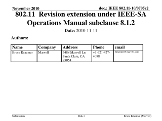 802.11  Revision extension under IEEE-SA Operations Manual subclause 8.1.2