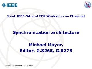 Synchronization architecture