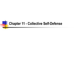 Chapter 11 - Collective Self-Defense
